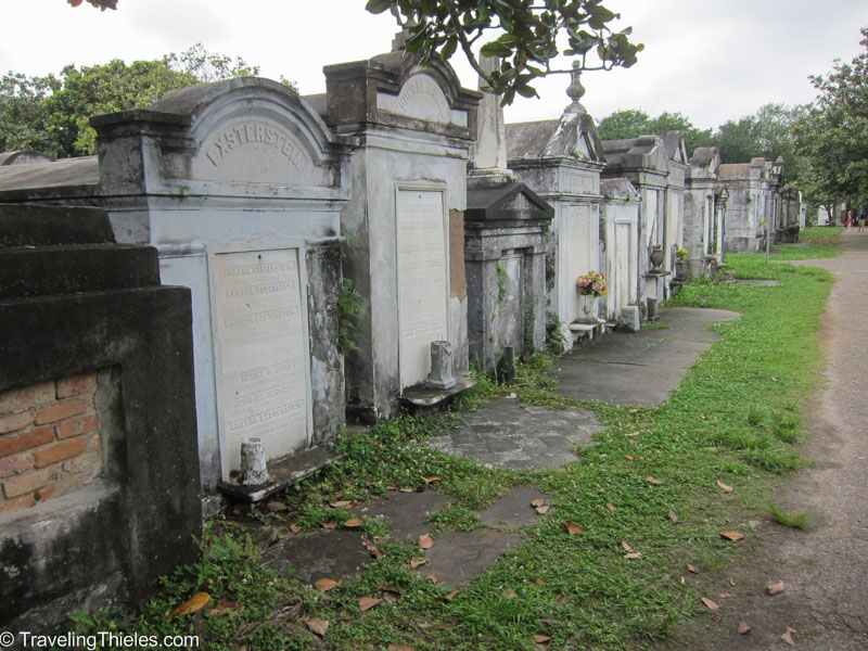 Lafayette Cemetery tombs