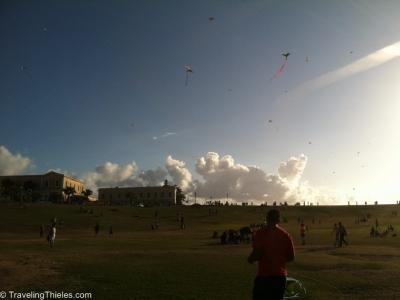 Kite flying in old san juan