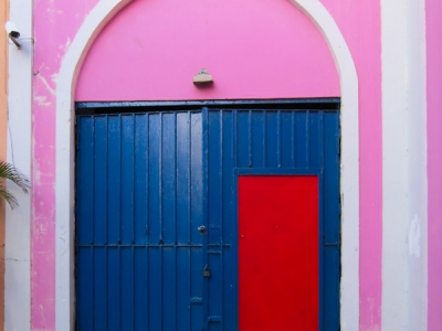 Colorful doors in old san juan