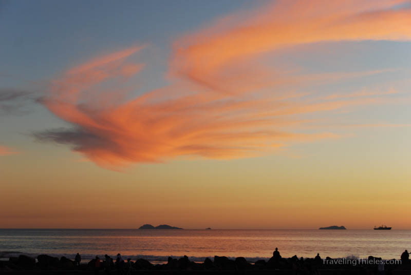 The pastel sunset was wonderful this night.  It complemented the historic hotel del Coronado perfectly