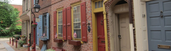 Elfreth Alley in Philadelphia - old world charm